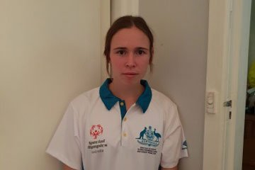 Laura Butler competing at Special Olympics World Games in the UAE